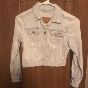 Hollister cropped denim jacket